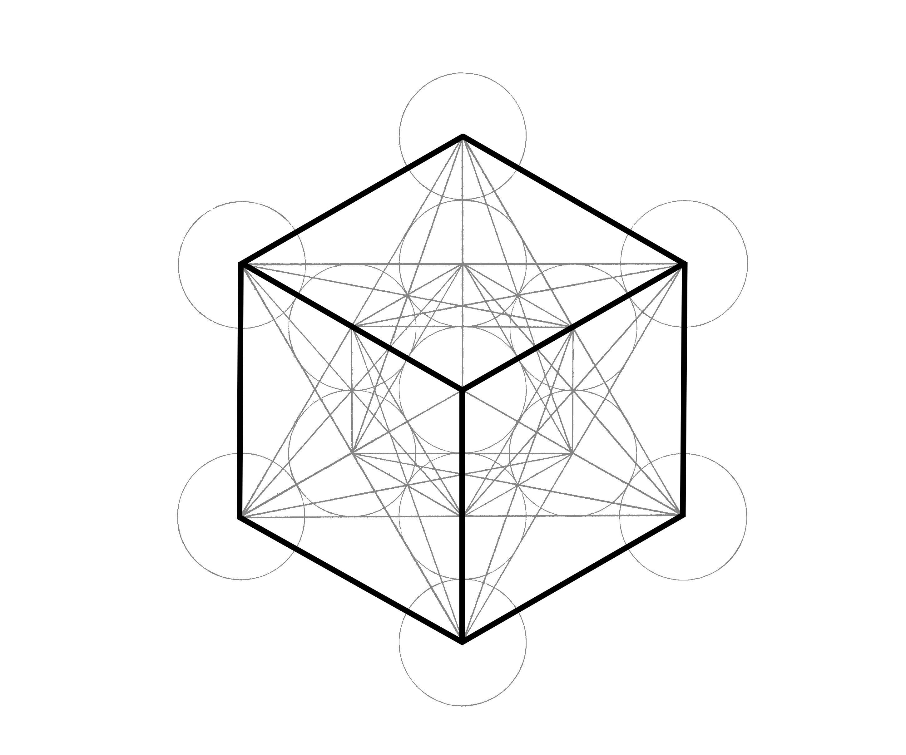 Metatrons Cube How To Draw It The Chemical Marriage