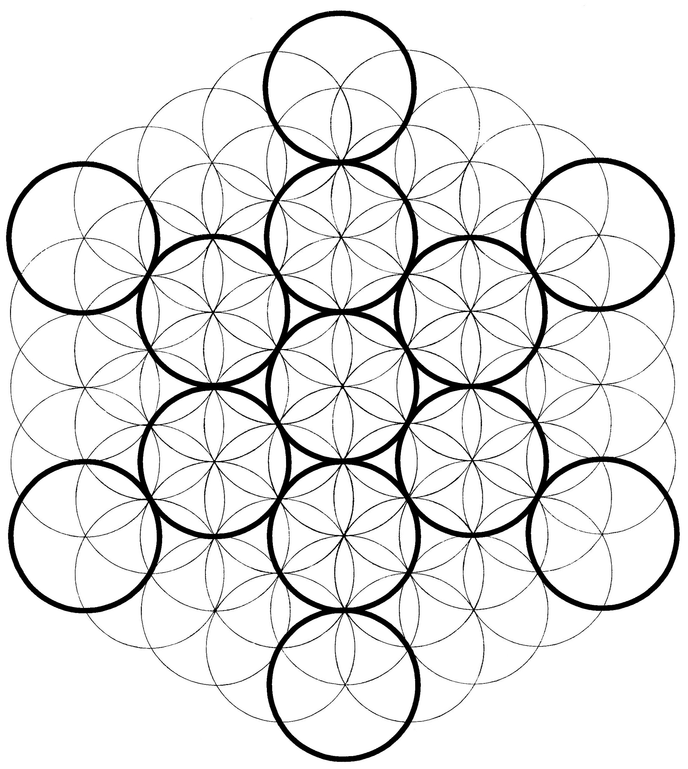 Metatron s cube how to draw it the chemical marriage for How to draw the flower of life step by step
